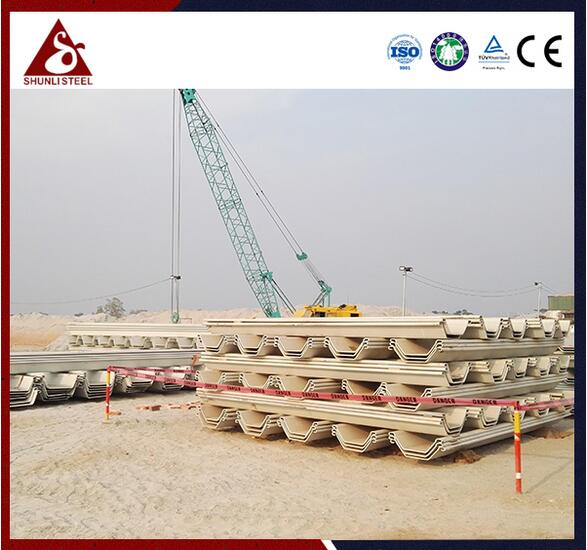 Anchored Permanent Quay Wall U Sheet Piling