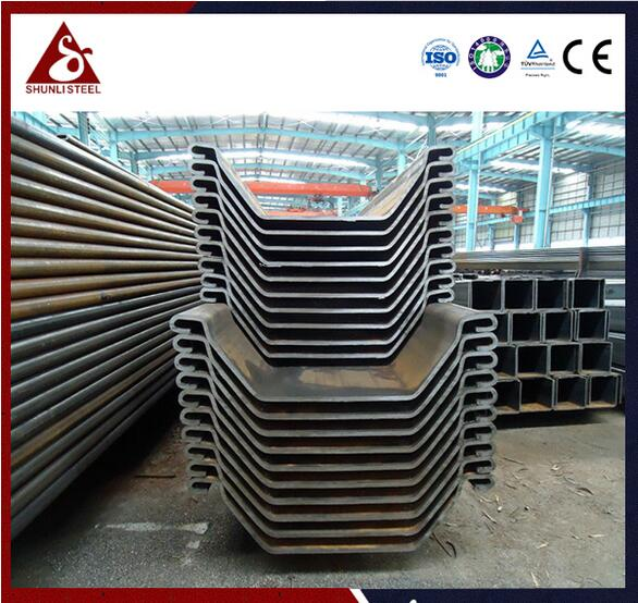 U sheet pile dimensions of different sizes